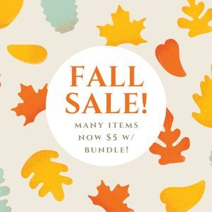 🛍 $5 w/Bundle! FALL CLEAROUT SALE!